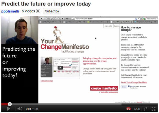 Predict the future or improve today - video