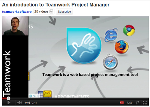Teamwork Project Manager video intro