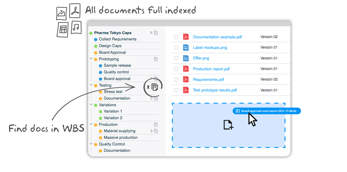Manage your project documents with Twproject